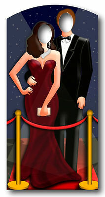 RED CARPET vip HOLLYWOOD COUPLE STAND IN CARDBOARD CUTOUT Party Themed - Red Carpet Themed Decorations