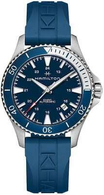Hamilton H82345341 40mm Blue Rubber Band Khaki Navy Scuba Automatic Mens Watch