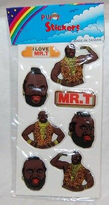 1980S A Team   Mr  T   Puffy Stickers Mint Sealed   Television Moc Ver  2