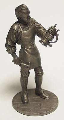 Pewter SILVERSMITH FIGURE Silver Stein Franklin Mint People Of Colonial America!