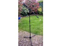 2 x Prosound Microphone Stands with Boom - Black