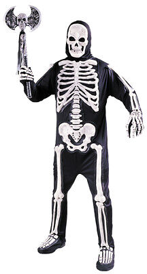 100 Halloween Costumes (Totally Skele-bones Standard Adult Costumes Halloween 100% Polyester)