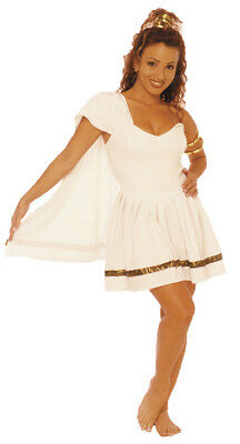 Caesars Girl Adult Shoulder Shawl Costume Pleated Mini Fancy Dress - Caesars Girl Kostüm