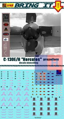 """1/48. C-130E/H """"Hercules"""" propellers stencils decals, by """"Bring it!""""/""""MLH"""" #481D for sale  Shipping to United States"""