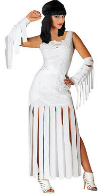 Damen Mumie Kostüm Ägyptische Königin Outfit 10-12-14-16 Neu