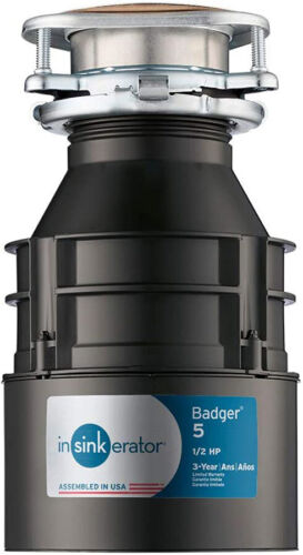 InSinkErator Garbage Disposal Badger 5 - 1/2 HP Continuous Feed Black I14O Free