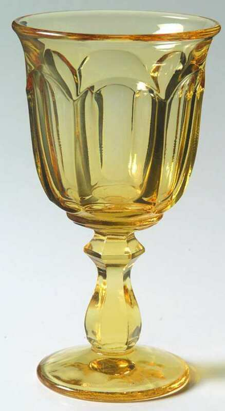 Imperial Glass Ohio OLD WILLIAMSBURG YELLOW Wine Glass 237571