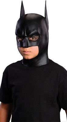 Batman Kinder Maske Überall Kopf Latex Schwarz Rubie's Kostüme Neu - Rubies Kostüm Batman Maske
