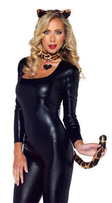 Leopard Kit With Heart Adult Women's Costume Headband Halloween Leg Avenue - Leopard Halloween Kit