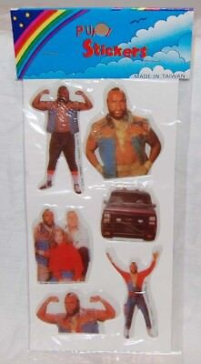 1980S A Team   Mr  T   Puffy Stickers Mint Sealed   Television Moc