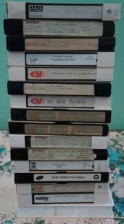 VIDEO TAPES x 63  VHS - Music , Record Company Promos, TV , Docos