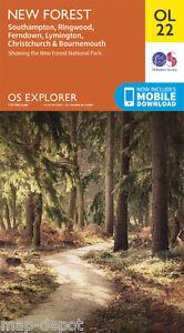 NEW-FOREST-EXPLORER-Map-OL22-OS-Ordnance-Survey-NEW-inc-MOBILE-DOWNLOAD