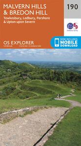 Malvern Hills and Bredon Hill Explorer Map 190 - OS - Ordnance Survey