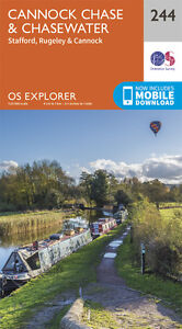 Cannock Chase and Chasewater Explorer Map 244 - OS - Ordnance Survey