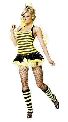 Queen Bumble Bee Sexy 4 Piece Adult Women Costume Wings Fancy Dress Leg Avenue - Bumble Bee Fancy Dress Costume Adults