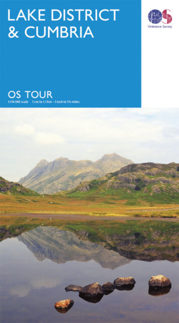 LAKE DISTRICT and CUMBRIA Tour Map - Travel - OS - Ordnance Survey - NEW 2016