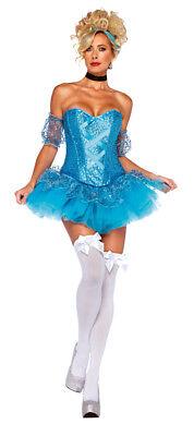 Cinderella Erwachsene Damen Kostüm Glitzer Tutu Rock Verkleidung Leg Avenue ()