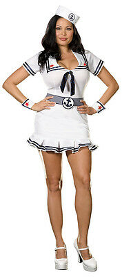 Cruise Cutie Costume - SEXY CRUISE CUTIE SAILOR NAUTICAL 4 PC COSTUME DRESSSIZE 3X  RL5163