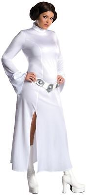 Damen Star Wars Prinzessin Leia Kostüm Perücke Plus XXL (Prinzessin Plus Kostüm)