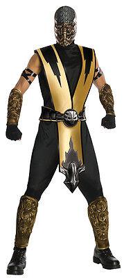 Erwachsene Mortal Kombat Skorpion Kostüm Panzerfarben Stück Maske RU880286