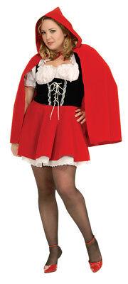 Rotkäppchen Erwachsene Damen Kostüm Kleid und Kapuze Cape Halloween Kostüm