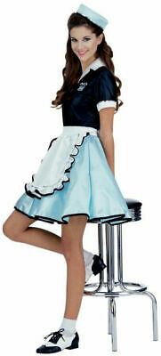 Rubies 1950s Car Hop Girl Diner Waitress Adult Womens Halloween Costume 15917 - 1950s Girl Costume