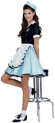 Sock Hop Girl (ADULT 50'S CAR SOCK HOP GIRL WAITRESS COSTUME DRESS NEW)