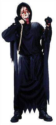 Bleeding Wassup Ghost Face Mask Costume Hooded Robe & Gloves Halloween Funworld - Wassup Mask