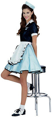 Women's Car Hop Girl Retro Adult 50's Costume - Car Hop Girl Halloween Costume