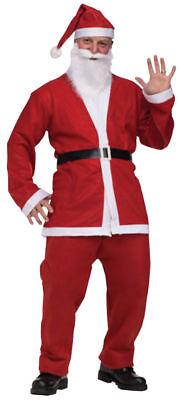 Santa Claus SUIT Pub Crawl MENS MEN Costume 5pc Jacket Pants Belt Hat Beard  508 - Costume Belts