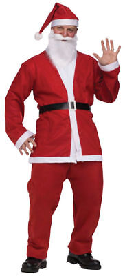 Santa Claus SUIT Pub Crawl MENS MEN Costume 5pc Jacket Pants Belt Hat Beard  508 - Costumes Man