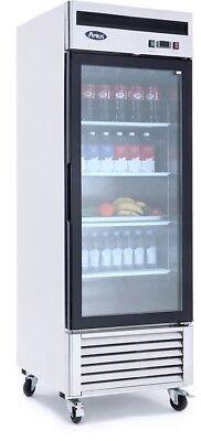 Atosa Mcf8701 Glass Door Freezer Ss Wcasters Bottom Mount Compressor Led Lite