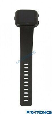 Fitbit Versa FB504 Smart Watch Fitness Activity Tracker Black Aluminum *PARTS*