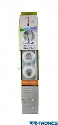 Legrand In-Wall Wiremold Cord & Cable Power Kit White WMC701