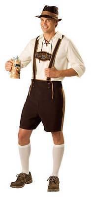 Mann Deutsche Bier Fest Lederhosen 4 Teile Kostüm IC11005 (Männliche Lederhosen-kostüm)