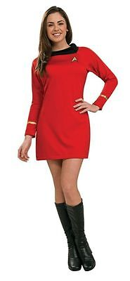 STAR TREK CLASSIC RED DRESS ADULT WOMENS COSTUME Movie Theme Halloween Party - Star Trek Halloween Party