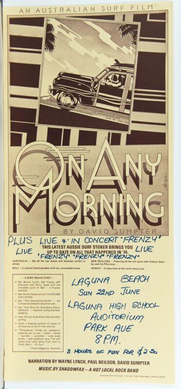 1974 Surf Laguna Beach Wayne Lynch surfing film poster Jim Evans