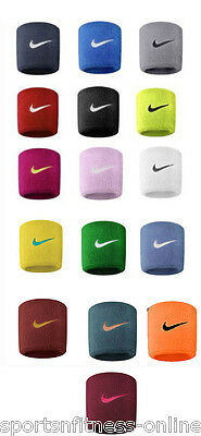 NEW (1 PACK) PAIR NIKE SWOOSH TENNIS,SQUASH,BADMINTON WRIST BANDS SWEAT BANDS