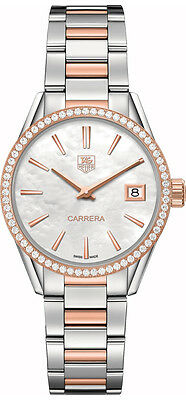 WAR1353.BD0774 | BRAND NEW TAG HEUER CARRERA QUARTZ LUXURY 32MM WOMEN'S WATCH