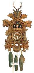 DOLD 8MT89 Large Live Animal Hunter 8 Day Cuckoo Clock