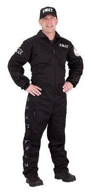 Swat Suit With Cap Adult Mens Costume Career Work Police Aeromax 63 Halloween
