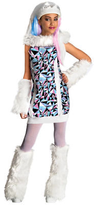NEW Abbey Bominable Monster High School WIG & Costume Girls Halloween Dress Up  - Monster High Abbey Wig