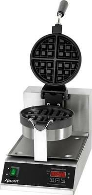 """NEW 7"""" Round Belgian Waffle Maker Adcraft BWM-7/R #6299 Commercial Machine CE"""