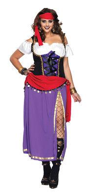 Reisen Zigeuner Erwachsene Damen Kostüm Bauer Fortune Halloween Leg - Reisen Kostüm
