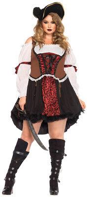 Piratenbraut Ruthless Erwachsene Damen Kostüm Schnürer Mieder Kostüm - Weibliche Piraten Kostüme
