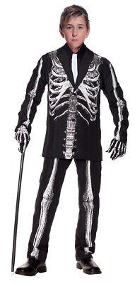 Bone Daddy Child Boys Costume Skeleton Suit Jacket Halloween Underwraps