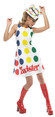 TWISTER ADULT WOMENS COSTUME Spinner Games Multicolor Theme Sexy Halloween - Halloween Themed Games Party