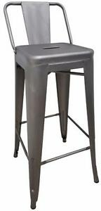 SHORT BACK METAL TOLIX STYLE COUNTER STOOL BAR STOOL (Set of 4) - free shipping