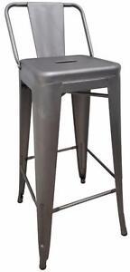 SHORT BACK METAL TOLIX STYLE COUNTER STOOL BAR STOOL (Set of 4) - free shipping