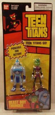 "Teen Titans Go! Beast Boy & Thunder 3.5"" Poseable Figures Bandai (MOC)"